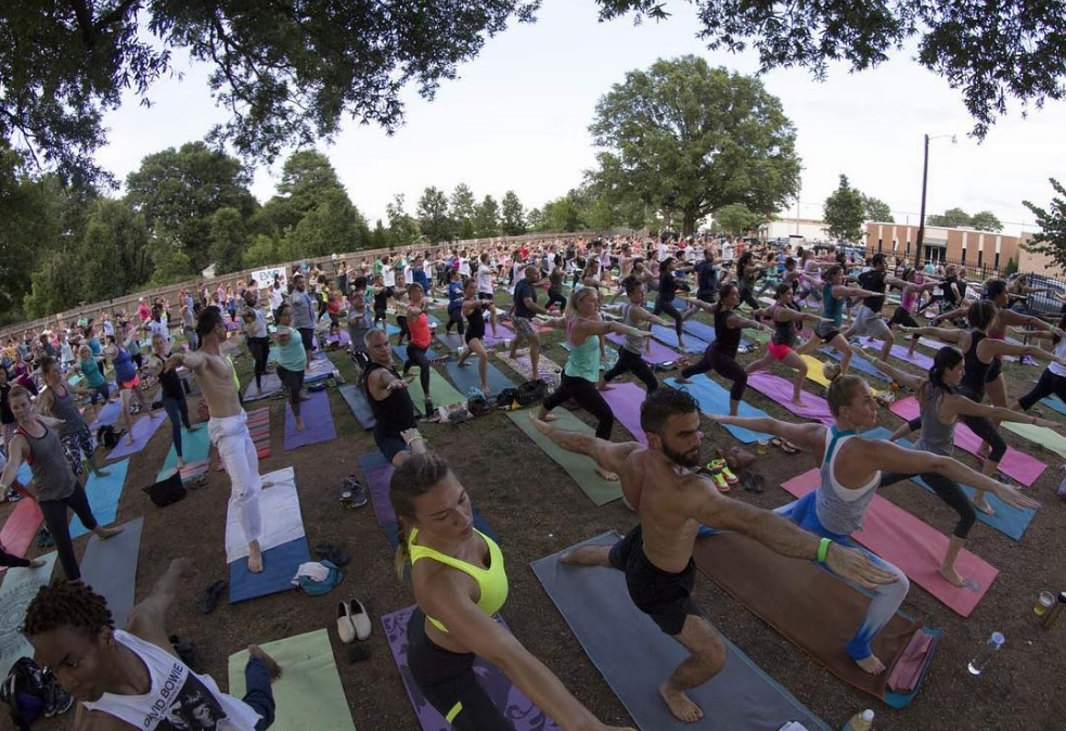 OMB's Yoga on Tap