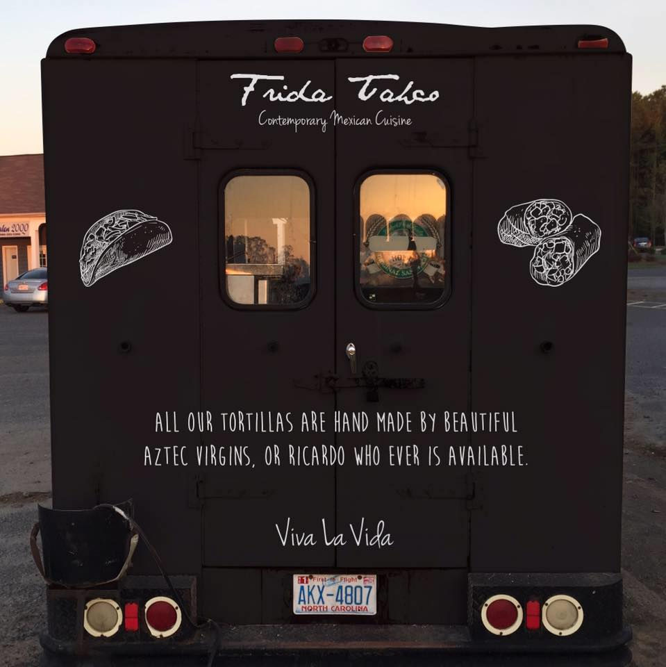 Frida Taco can be booked for special events. They can also be seen at your neighborhood food truck rally!