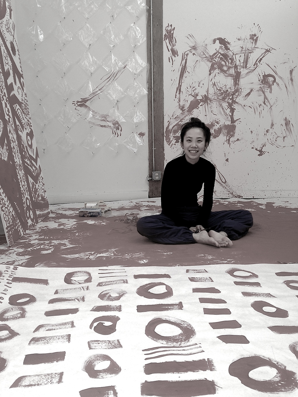 Qinmin in her studio