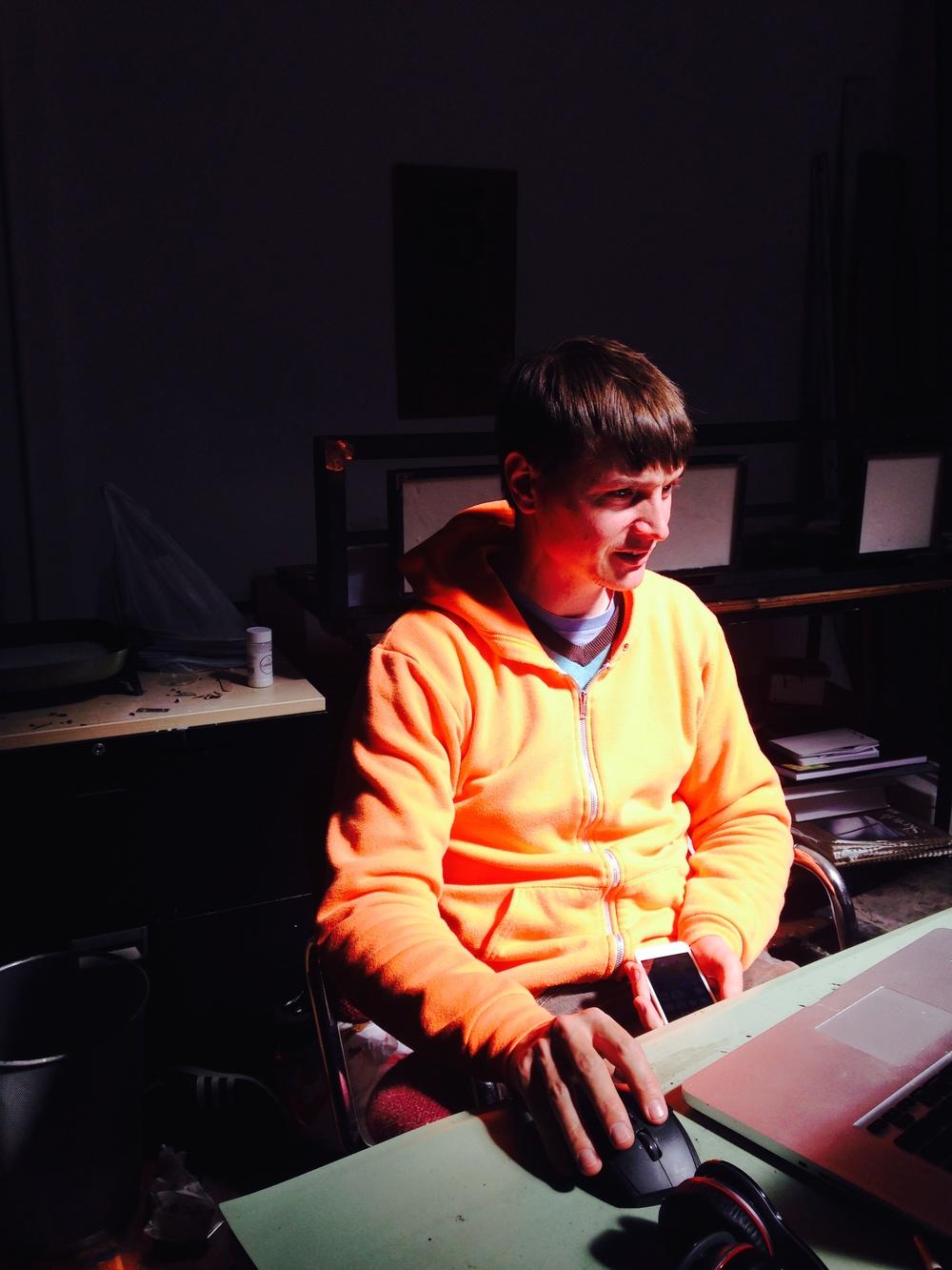 Adam Barry in his studio