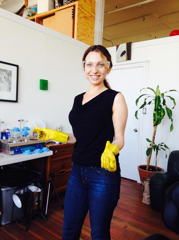 Lauren Marchetti in her studio