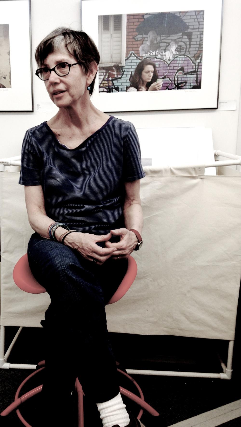 Ellen Rosenthal in her studio