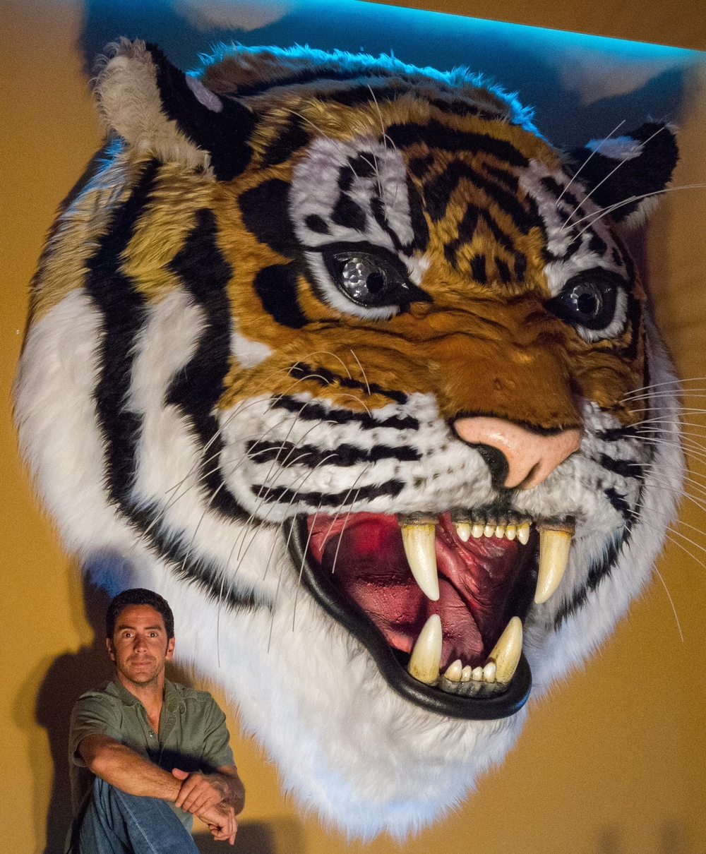Matthew McAvene tiger Head Sculpture for Tiger heroes.jpg