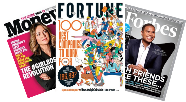 AS SEEN IN - Forbes, Fortune, and Money Magazine