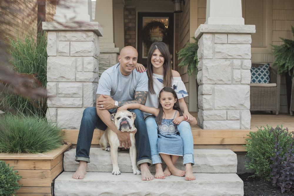 at home family photos toronto