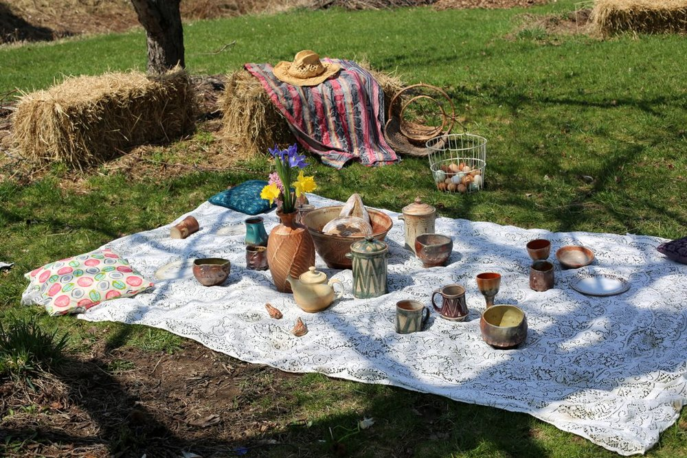 Picnic in the orchard