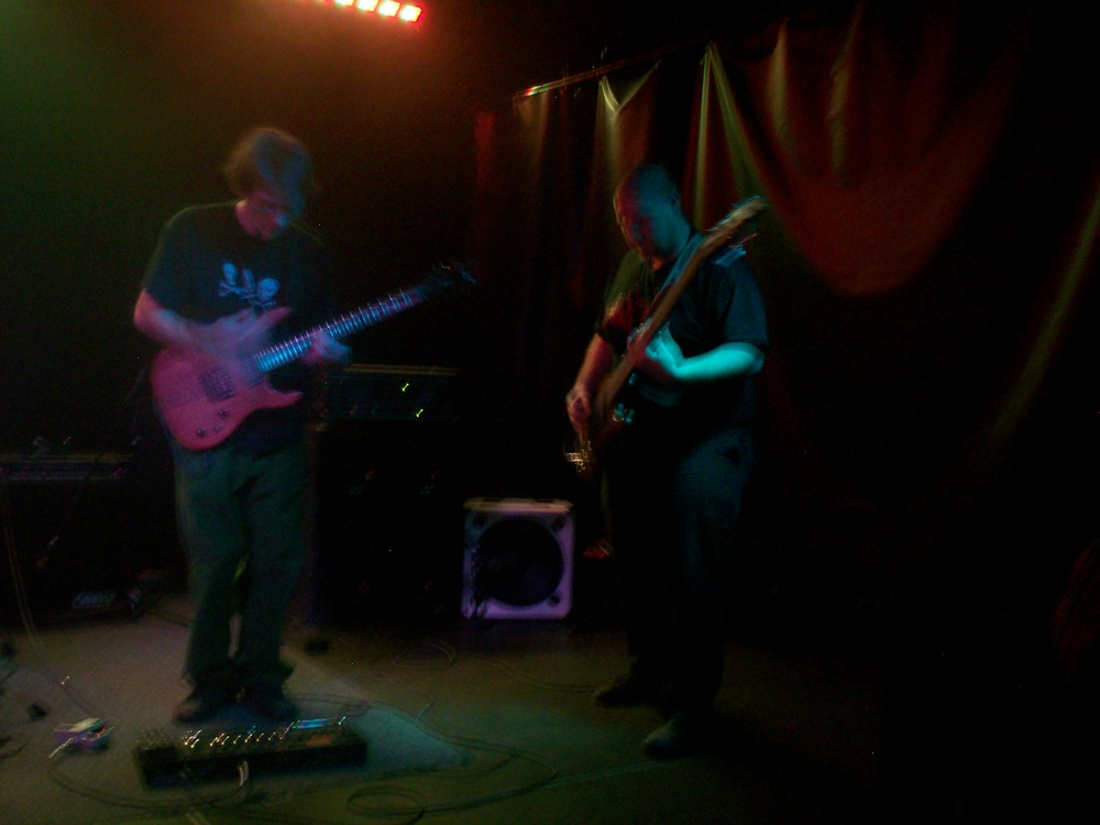 with Bassist Zac Hogan - QuarkChaser live band 2010 - W21, Santa Fe