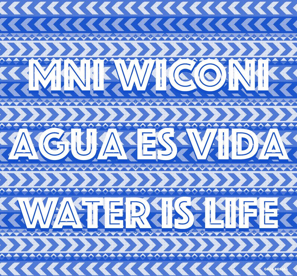 Mni Wiconi/ Agua es vida/ Water is Life, 2017