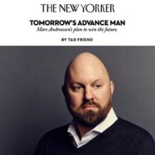 Crazy Break-Through Ideas. Love the New Yorker's skill in getting to the essence of Marc Andreessen. a16z. #StartUps #VentureCapital #DisruptiveThinking #TransformationalThinking