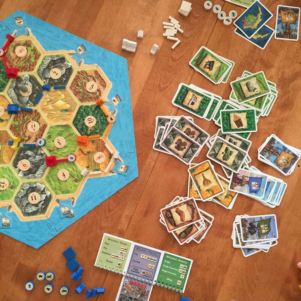 Settlers of Catan: Knights and Cities. The game that took us nearly 5 hours to finish.