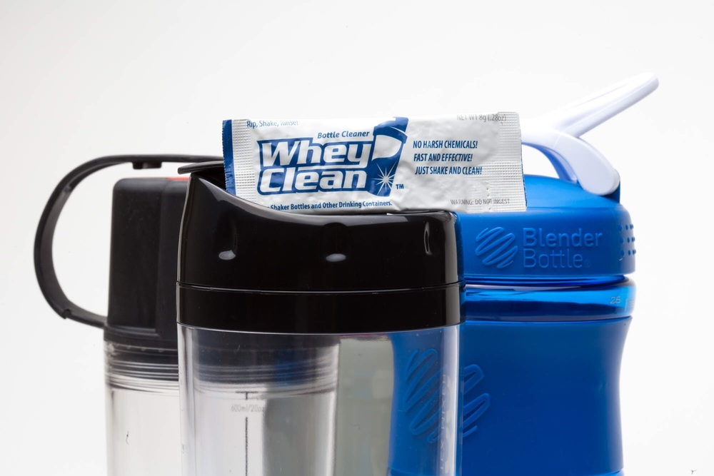 Be sure to bring WheyClean® with you to make sure your shakers are clean and ready to go!