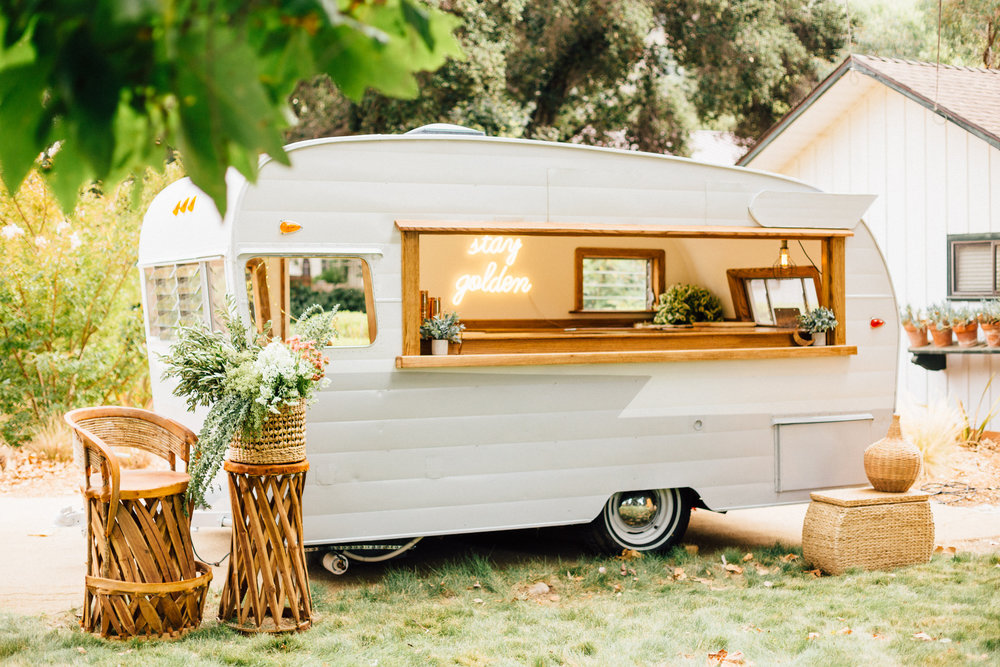 BOOK THE CALIFORNIA COCKTAIL CAMPER WITH BAR CART COCKTAIL CO. SERVICES FOR YOUR HOLIDAY PARTY!