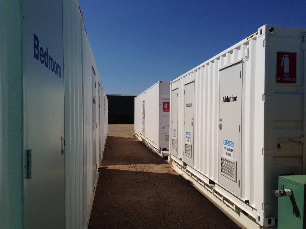 container conversions and turn key mobile camps