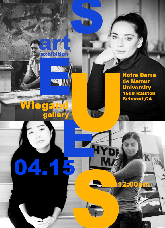 Flyer for Art exhibition,Spring 2018