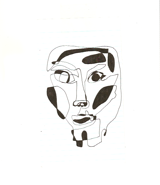 """""""Him"""",fast linear art 2018"""