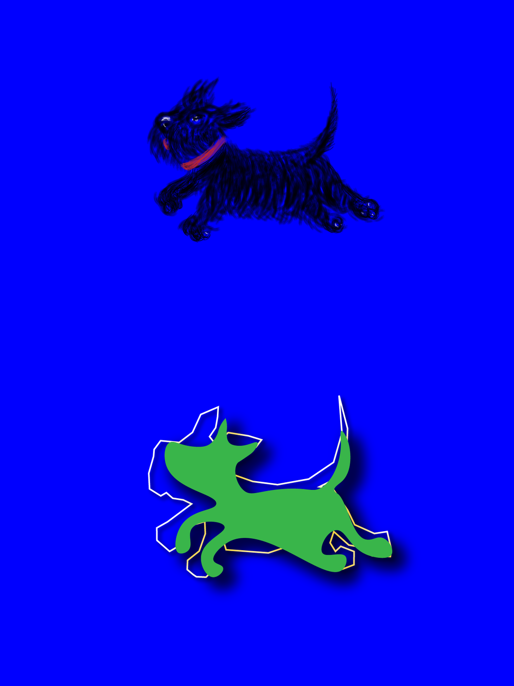 variation of a dog logo