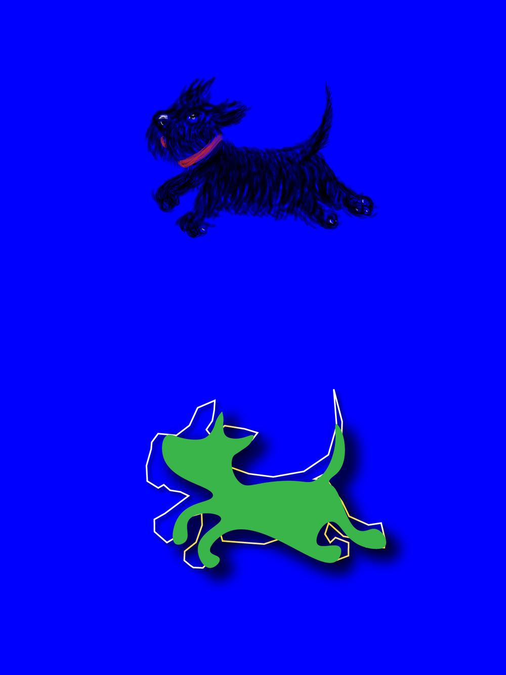 variation of a dog logo