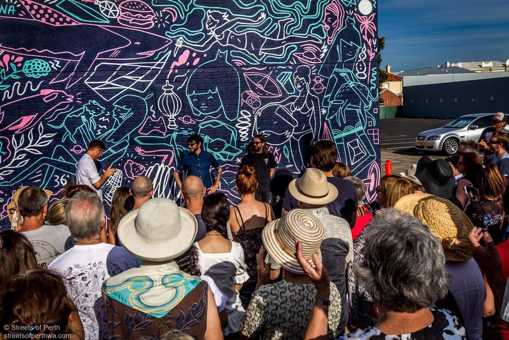 Chris Nixon & Sean Morris' mural for Re.Discover 2015
