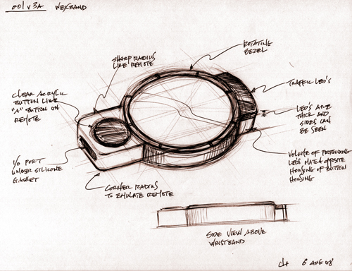 Wexercise product concept sketch