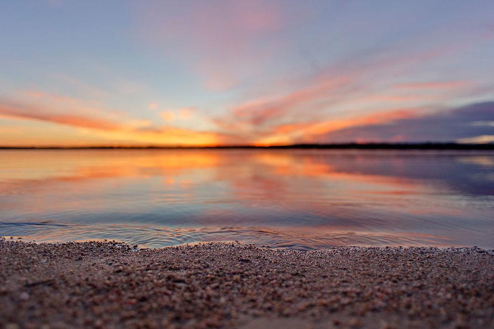 Sunrise over Chatfield Reservoir. 2015