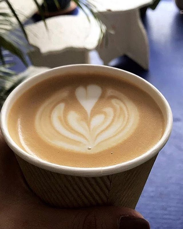 We've got @tjisyourhero ✨ in the #shop 🏝 today 💕 slinging 💅🏼#highclass #latteart 👌🏻 @_domicile #swelldwelling 🤘🏽