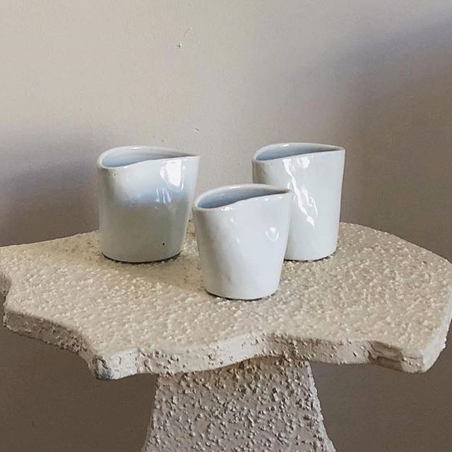 #repost @lives2narc and her gorgeous #ceramics sitting #pretty on our Georgia Side-stool table by @henrylucienbarrett for @_domicile  There are only 2 left in stock DM to reserve yours! #swelldwelling