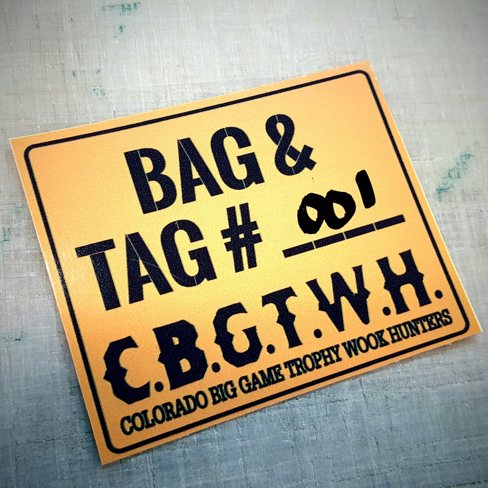 "Official CBGTWH ""Tag & Bag"" 10pk"