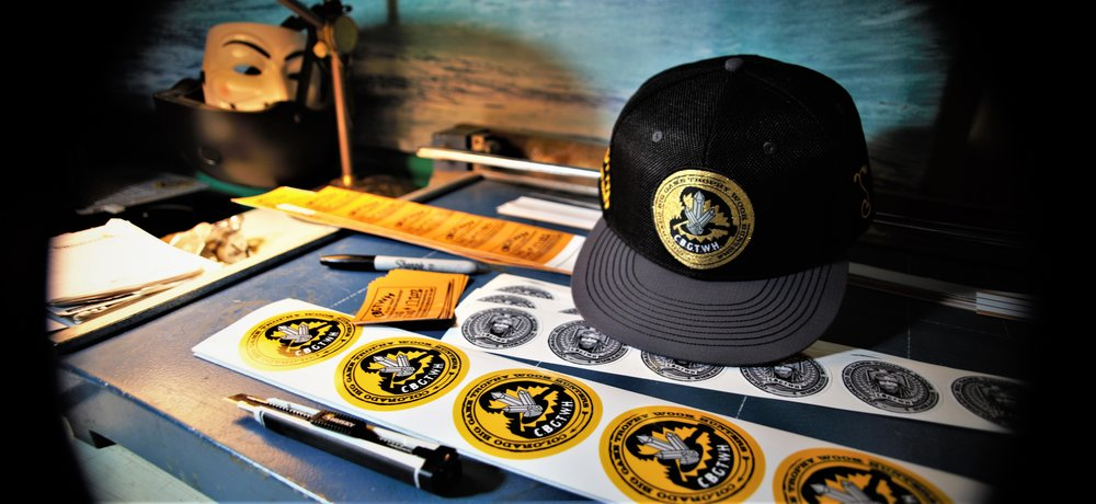 CBGTWH hat & stickers