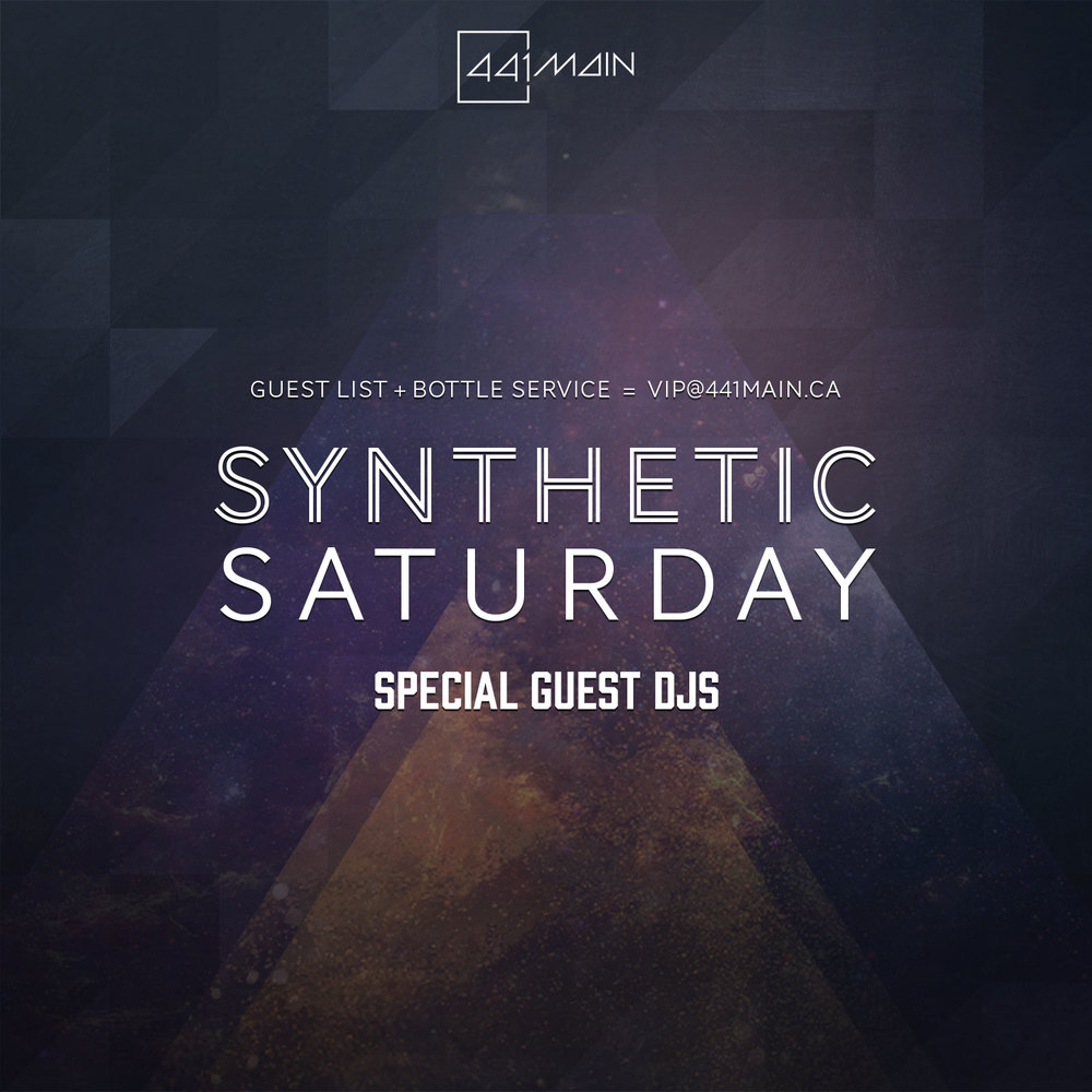 Synthetic Saturdays Flyer