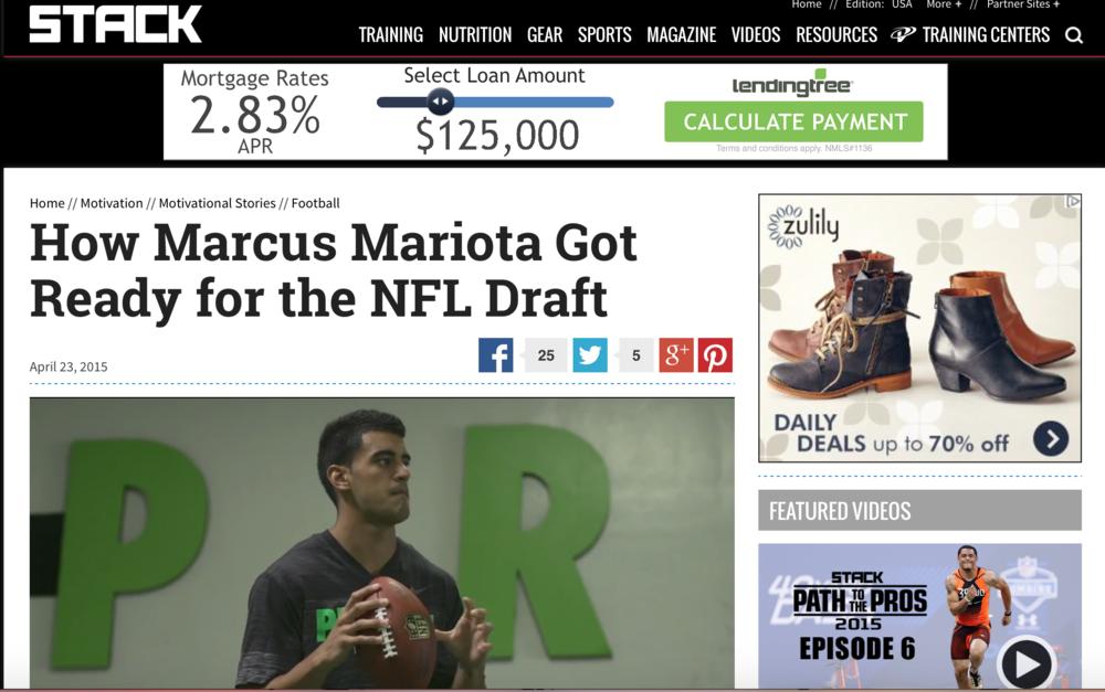 Stack magazine - prolific athletemarcus mariota