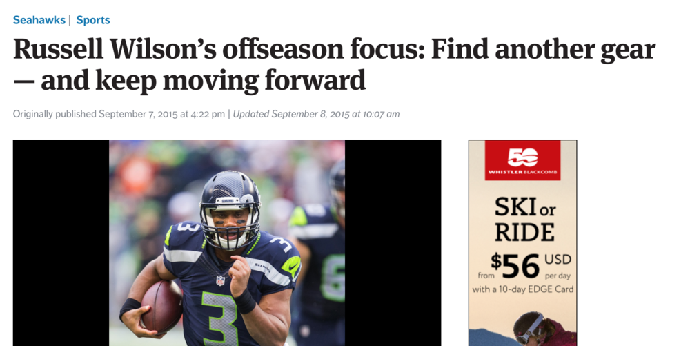 Russell Wilson Seattle Times
