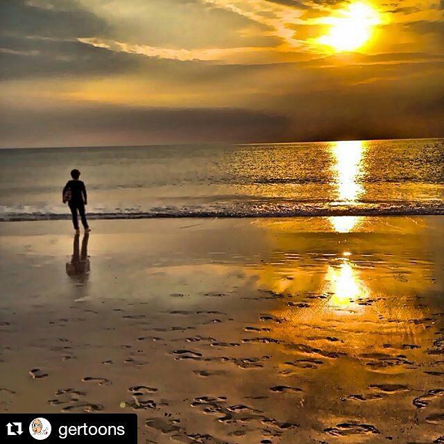 #Repost @gertoons ・・・ Sonnenuntergang #westerland #sylt #summerfeeling #abendspaziergang #nordsee #northsea #ilwsylt #sundowner
