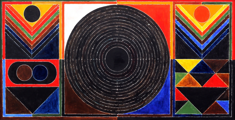 S.H Raza, Germination, 40x80 inches, acrylic on canvas, 1993.JPG