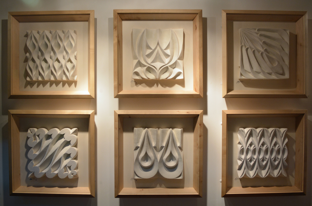 Framed Sculpted Tiles