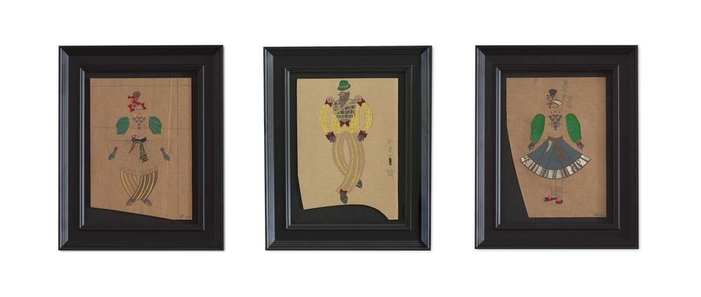Colonel Casanova – Triptych ,  2015  42.3 x 34.2 cm (Each framed)£1350