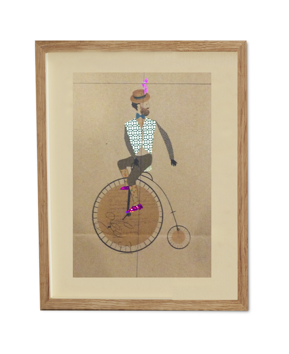 Charlie on his New Wheels  , 2015                                                      38.2 x 29.6 cm (framed)                                                                   £440