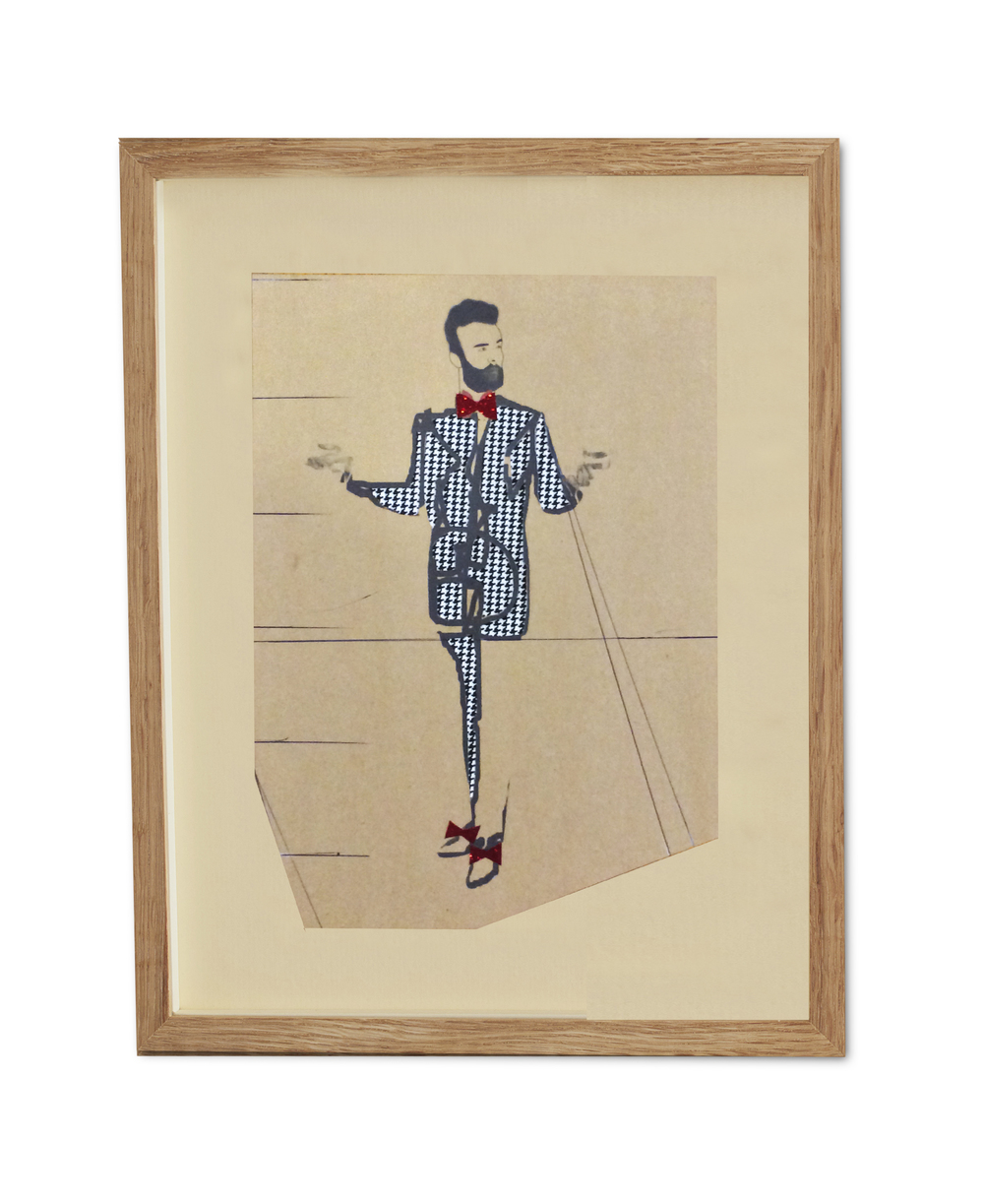 Dogtooth Dapper Don  , 2015  38.2 x 29.6 cm (framed)                                                                   £440