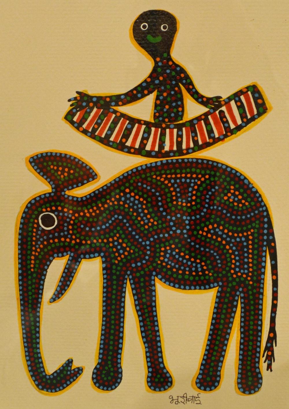 Bhuri Bai, acrylic on paper, 24   x 17 cm, 2015.jpg
