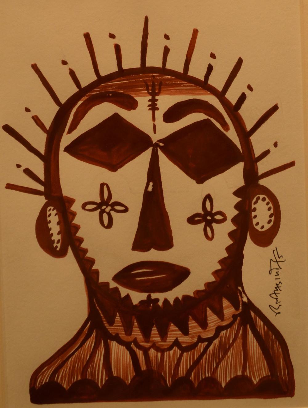 Dilip Kumar Damor, acrylic on paper, 19x14cm,  2015..jpg