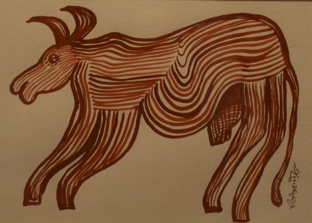 Dilip Kumar Damor, acrylic on paper, 19 x14cm,  2015..jpg