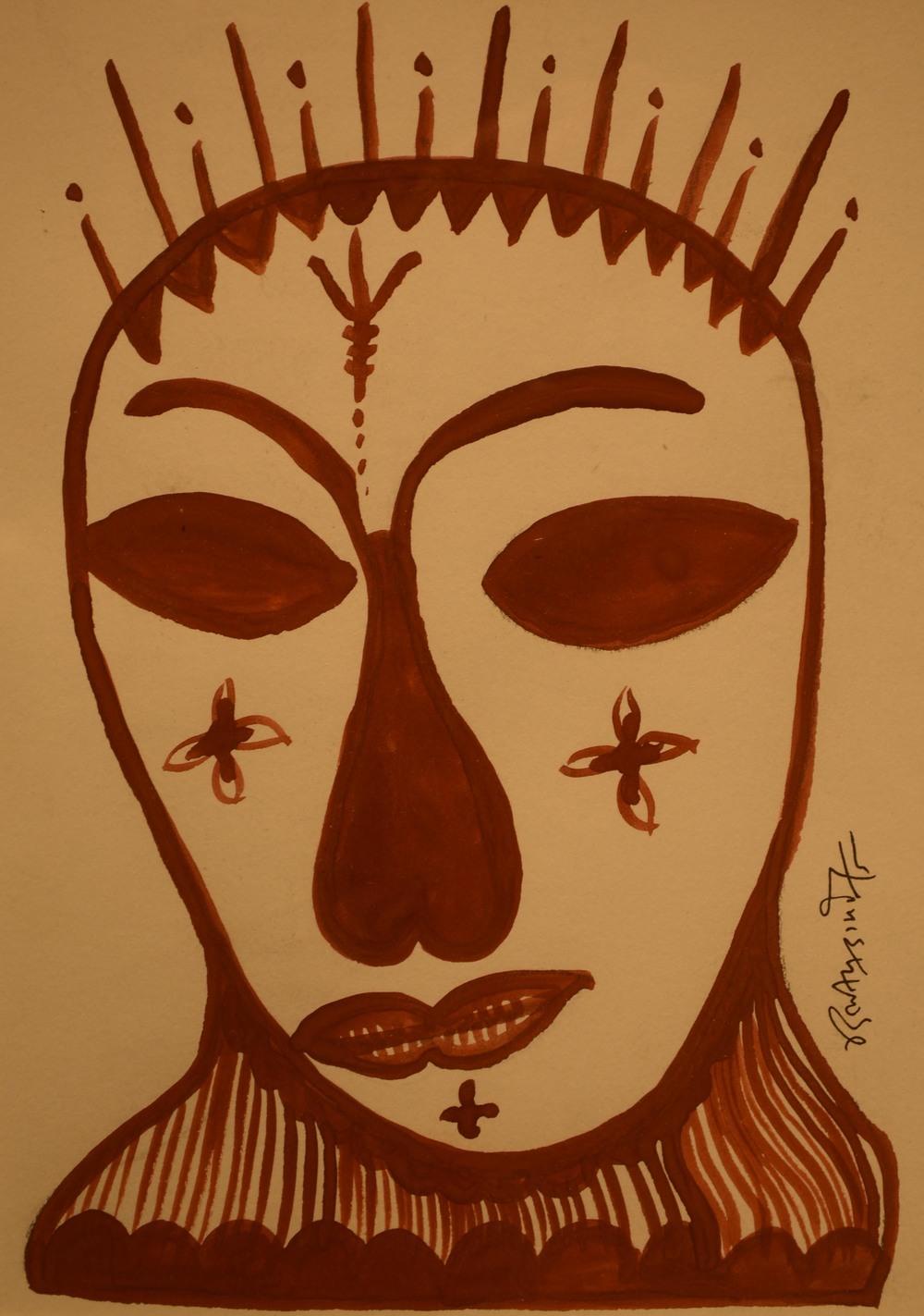 Dilip Kumar Damor, acrylic on paper, 19x14cm, 2015.jpg