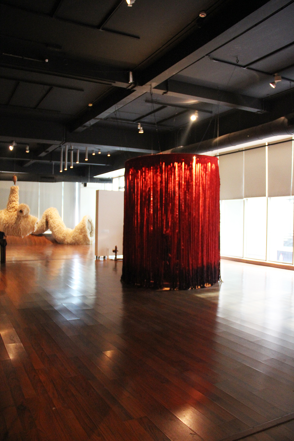 Installation shot from the Fibre Fables exhibition 2016, Stainless Gallery, Delhi, India