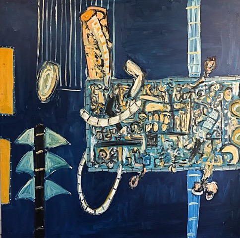 Alec Cumming | Beyond times of wonder | oil on canvas | 152 x 152 cm | 2016