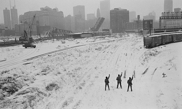 Hiroji Kubota, 'Black Panthers in Chicago, Illinois' 1969