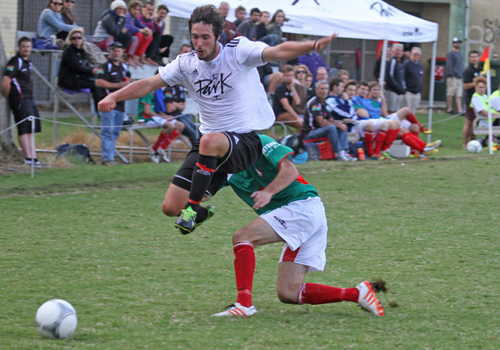 New Rams signing Mauro Michi takes flight in Saturday's crushing 10-1 victory of Italo Stars