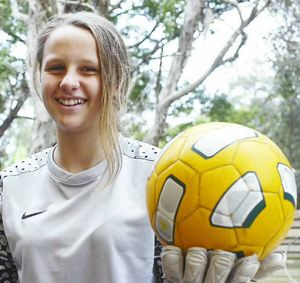 HAVING A BALL: Savannah Boller is celebrating after being named in the Northern NSW team to contest the under-15 National Youth Championships in Coffs Harbour. photo by Stuart Turner
