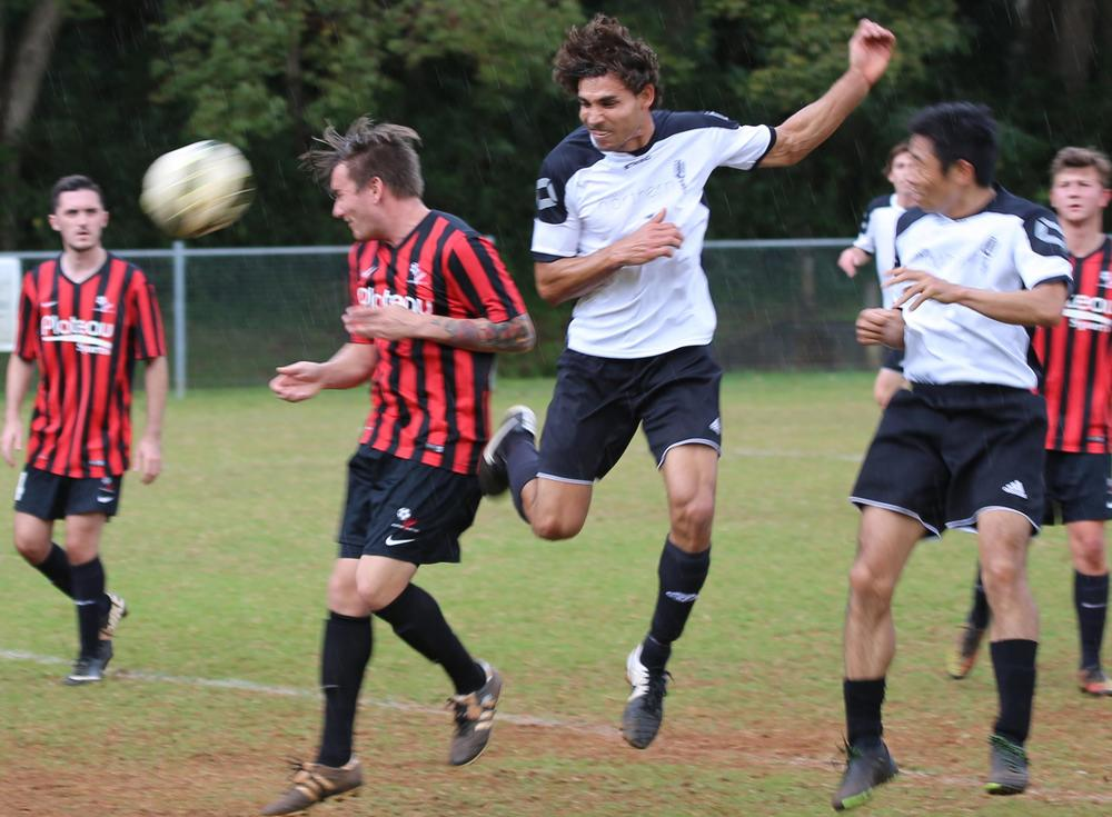 Herick Schuenemann headed home two goals in the Reserves convincing 5-0 win over Alstonville before backing up for a marathon run in the Prems.