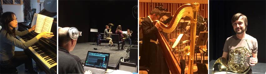 Fra indspilningerne til Musikspillet - Pianist Takako Togo og musikere fra Aarhus og Aalborg Symfoniorkester