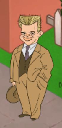 Carl Nielsen står øverst i byen.