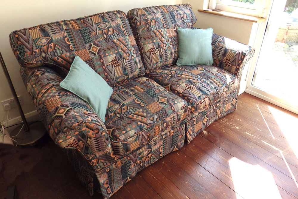 settee cover after
